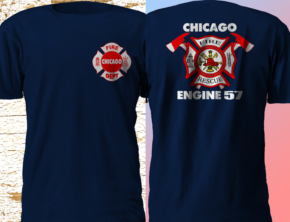 Chicago Firefighter Fire Department TV Series Rare Design ...