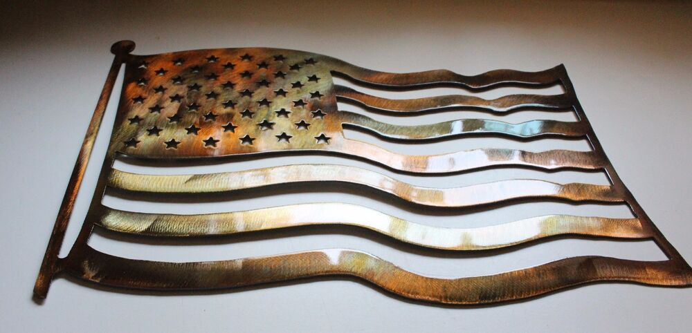 American Flag Metal Wall Art Ebay
