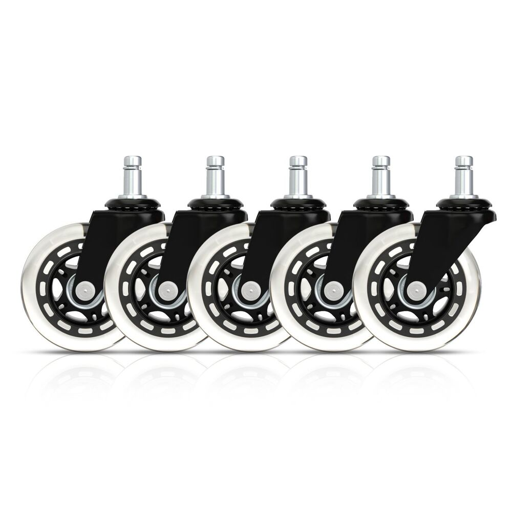 Rollerblade Style Office Chair Caster Replacement Wheels Set Of 5 EBay