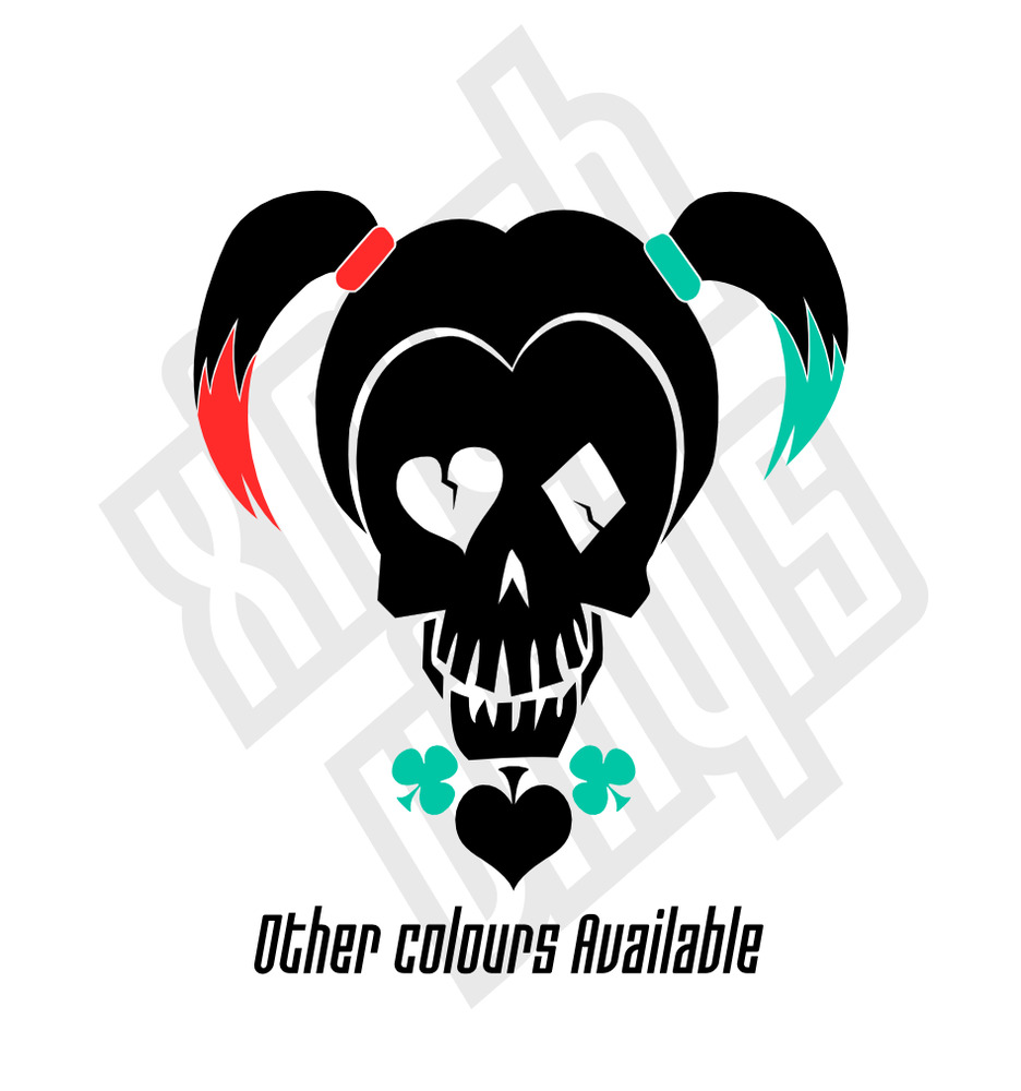 Harley quinn vinyl sticker decal suicide squad car window optional joker ebay