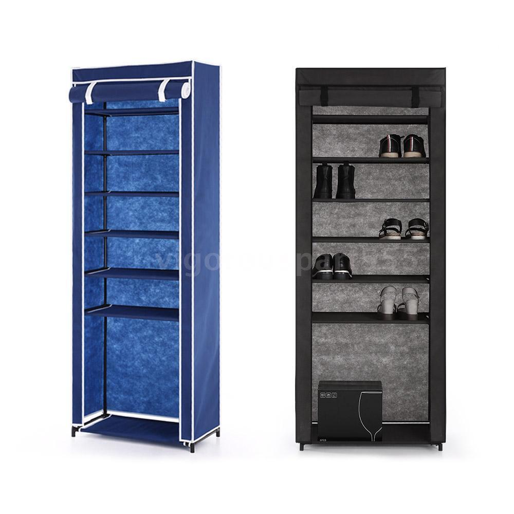 Home Portable Closet Storage Organizer Cabinet Shelf Shoe