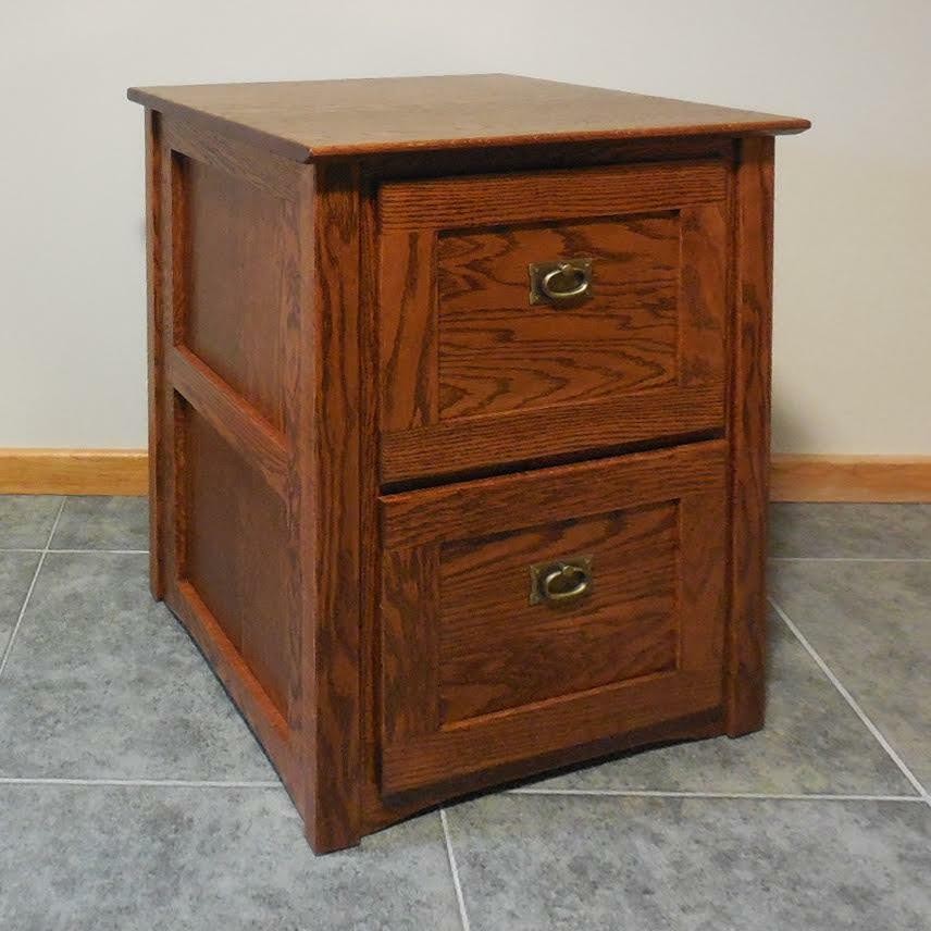 Authentic Mission 2 Drawer File Cabinet Solid Oak 320 Ebay