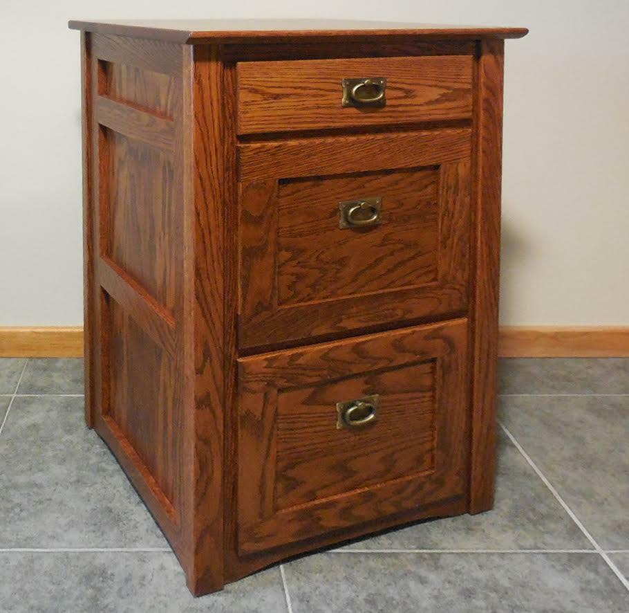 Authentic Mission 2 1 2 Drawer File Cabinet Solid Oak #325 eBay