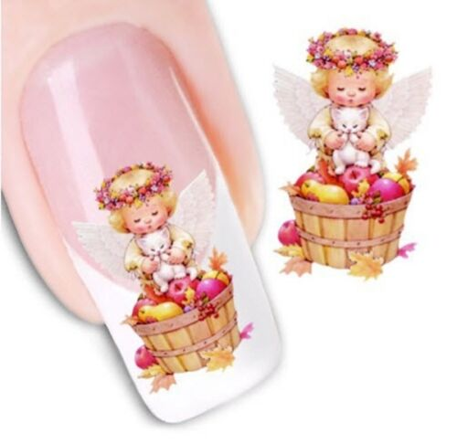 Nail Art Sticker Water Decals Transfer Stickers Angels (XF1249)