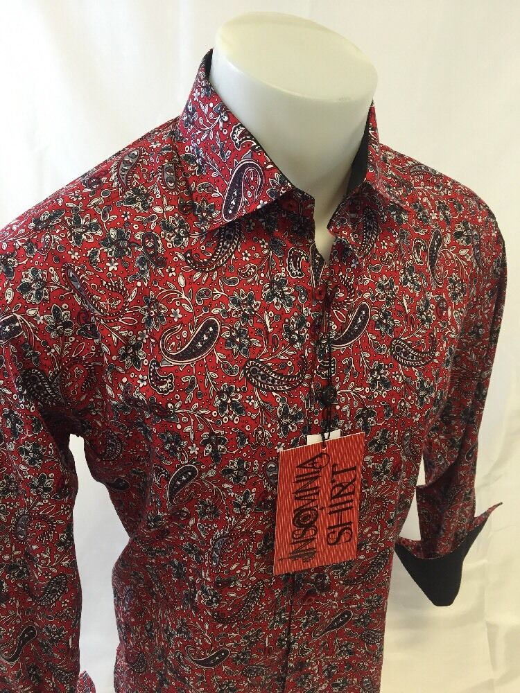 Mens Insomnia By Manzini Button Down Dress Shirt Paisley