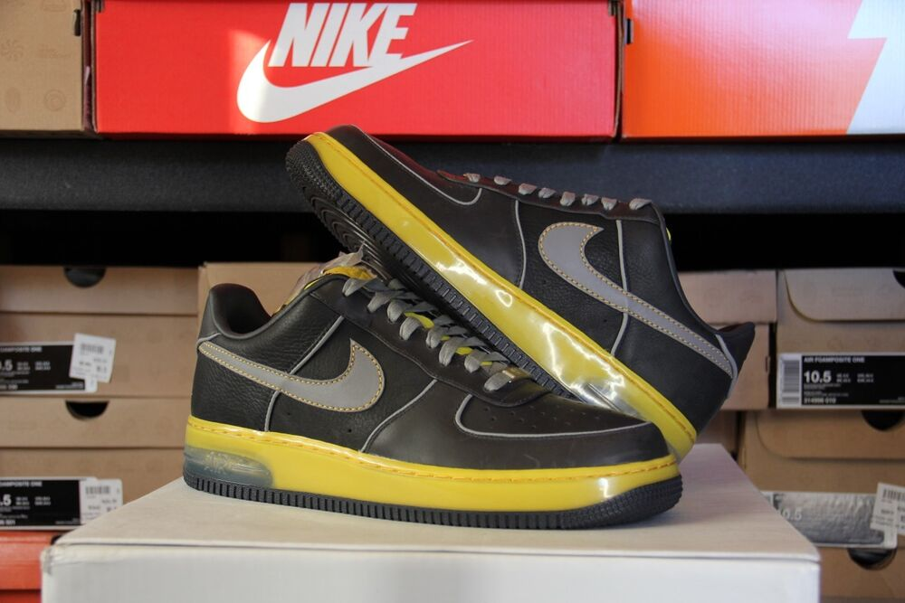 2007 Nike Air Force 1 Low SUPREME MAX Charcoal Yellow Size 10.5 -  (316666-001)  af39ccaea