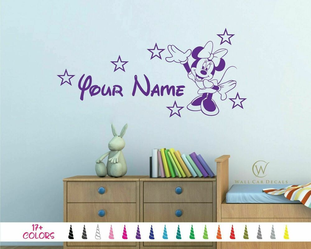 Minnie Mouse Personalized Girls Bedroom Baby Nursery