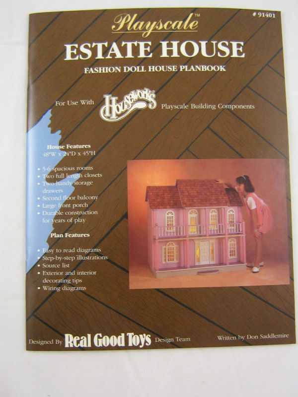 playscale estate doll house plans book houseworks 1 8 1 6 scale real rh ebay co uk