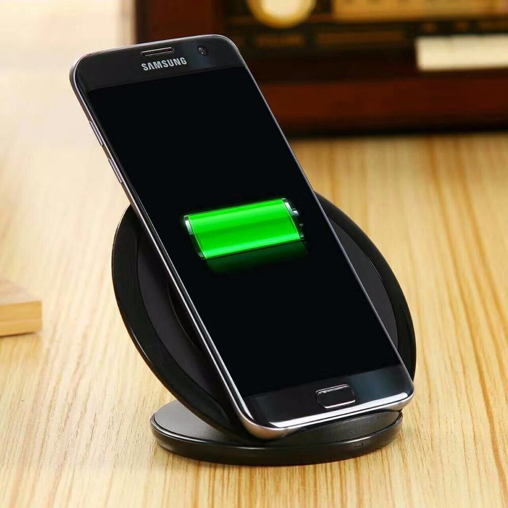 fast charge stand samsung galaxy s7 edge note 7 wireless charging pad qi charger ebay. Black Bedroom Furniture Sets. Home Design Ideas