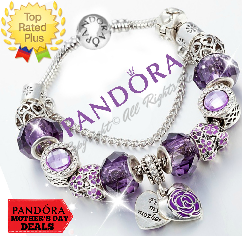 Bead Charm Bracelets: PANDORA 925 Bangle Charm Bracelet And European Charms