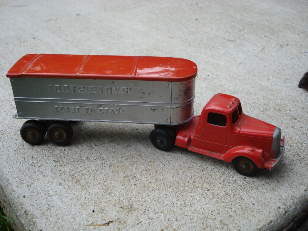 Toy Tractor Trailer Trucks : S tootsietoy lf mack truck coast to toy tractor