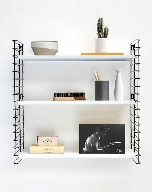 3 tier metal shelving wall racking unit adjustable heavy. Black Bedroom Furniture Sets. Home Design Ideas