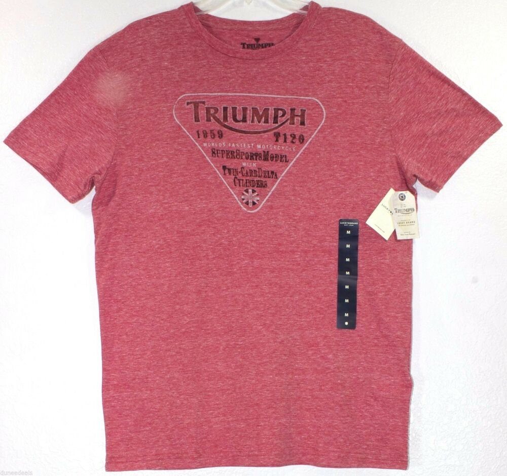Nwt Lucky Brand Triumph Motorcycle 1959 T120 Jester Red T