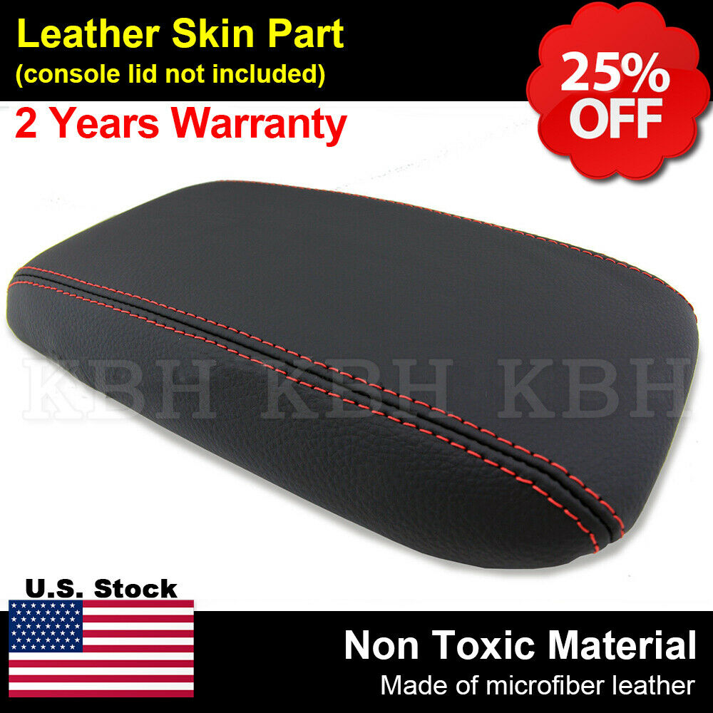 Leather Armrest Center Console Lid Cover Fits Honda Civic