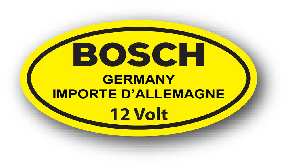 vintage vw yellow  volt bosch coil decal sticker volkswagen beetle ghia type  ebay
