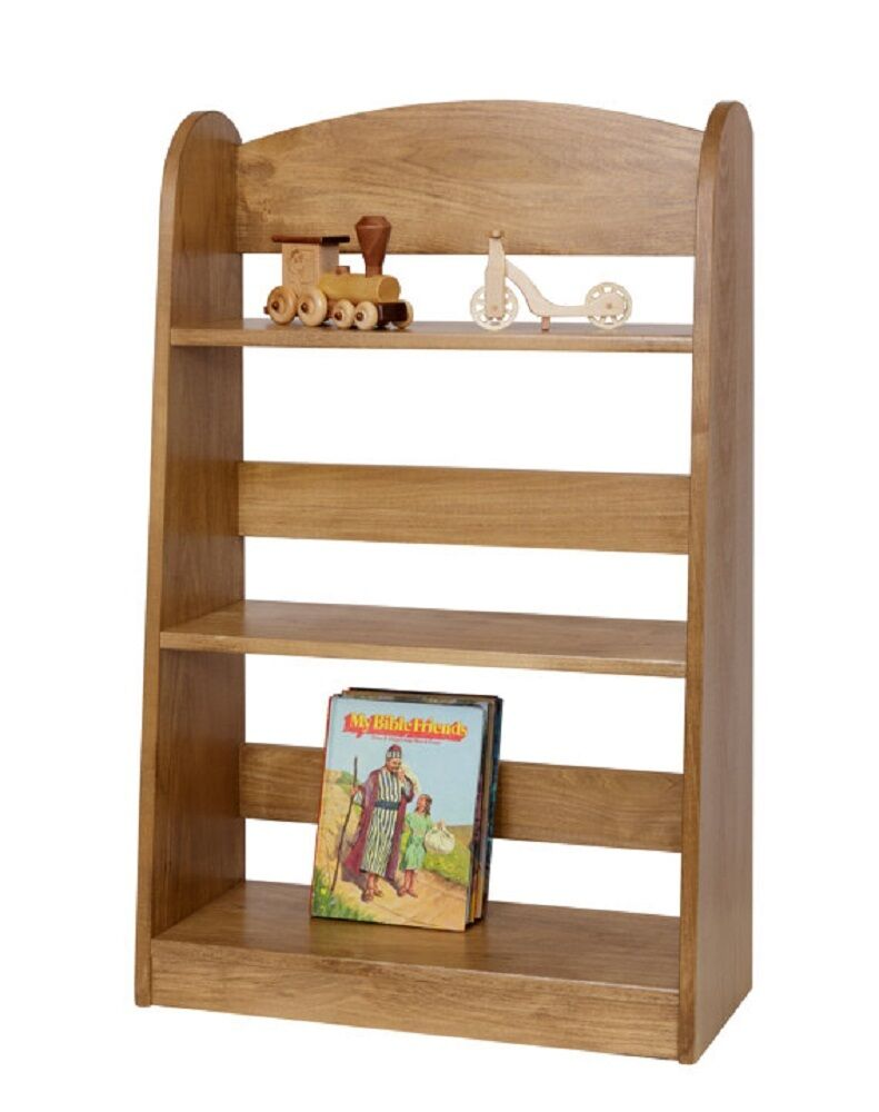Children 39 s bookshelf amish handmade poplar wood furniture in harvest oak finish ebay Wooden childrens furniture