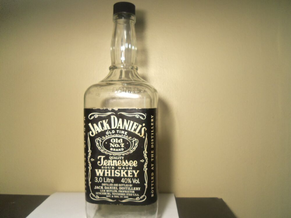 jack daniel 39 s 3 liter bottle ebay. Black Bedroom Furniture Sets. Home Design Ideas