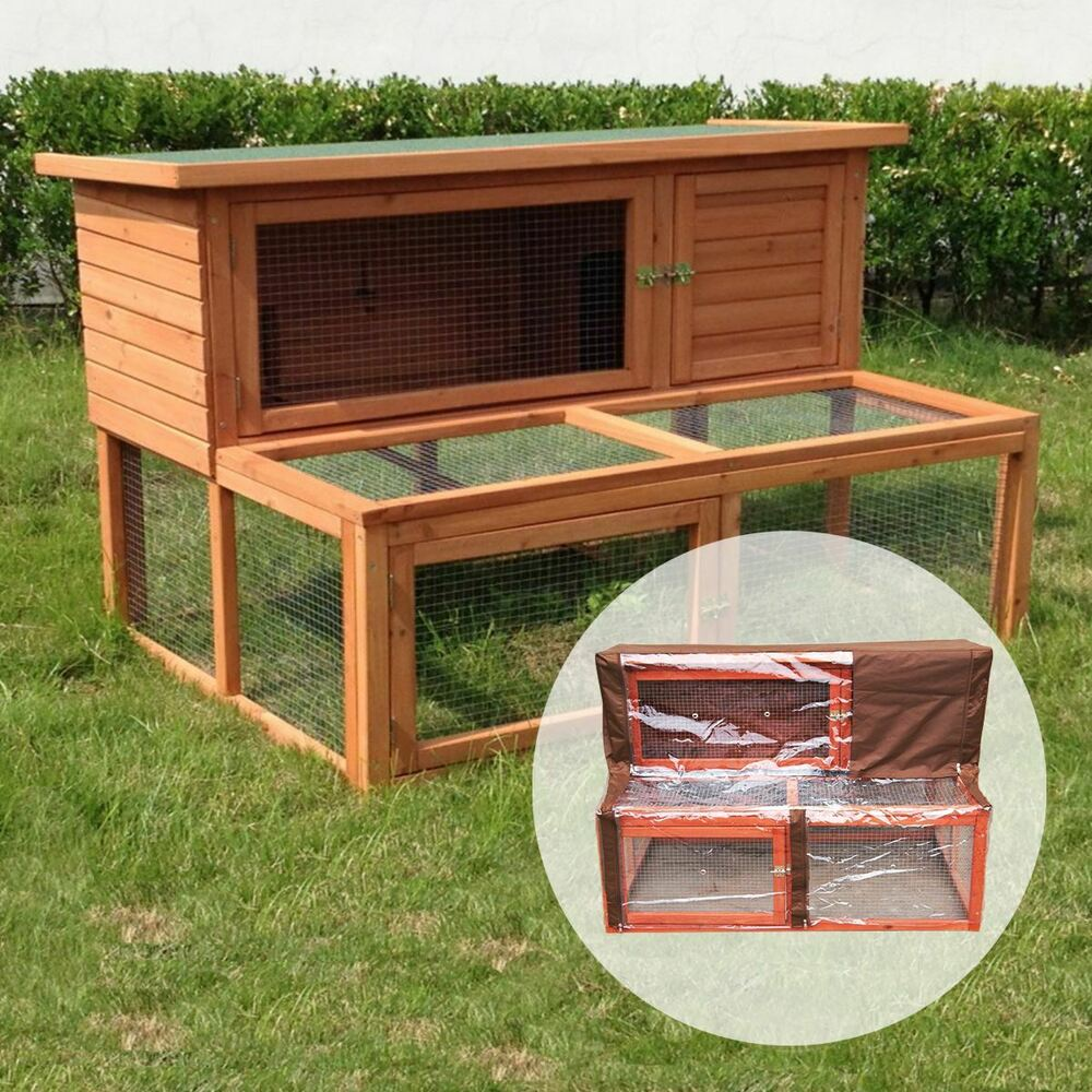 4ft ancona large rabbit hutch with run and wooden pet for Free guinea pig hutch