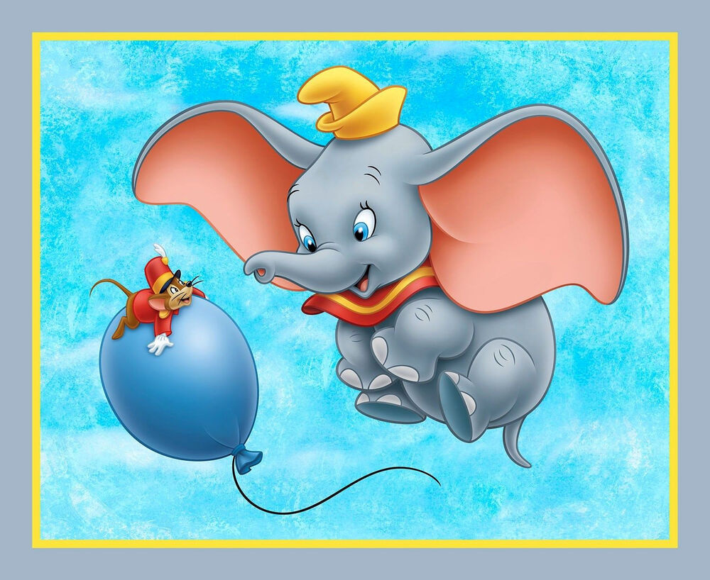 It is a picture of Critical Pictures of Dumbo the Elephant