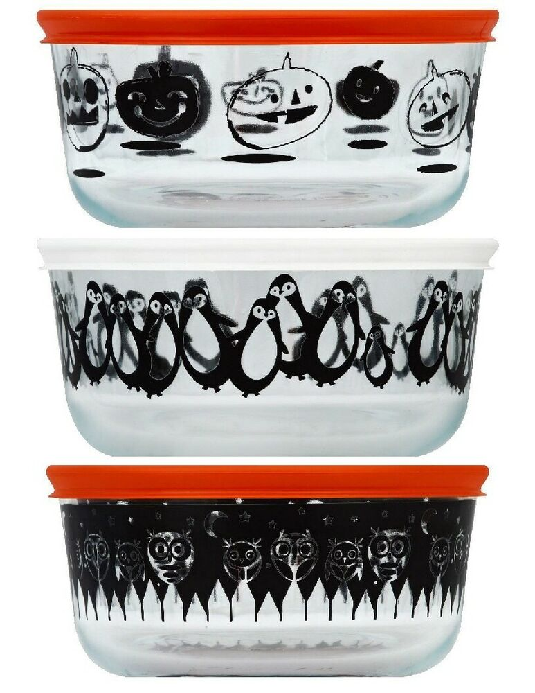 1 Pyrex Halloween 4 Cup 1 Qt Glass Storage Choice