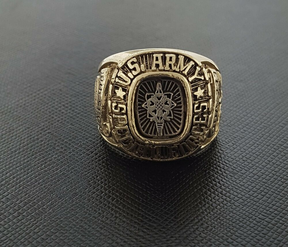 Us Army Class Rings: US Army Special Force Airborne 10th Class Gents Ring 18K