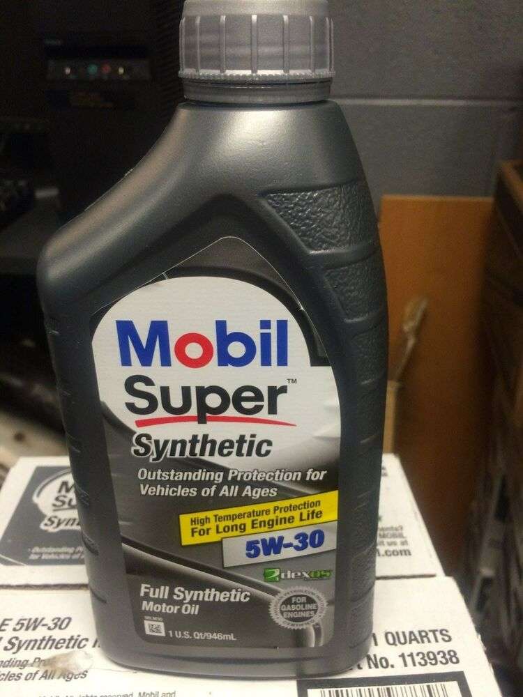Mobil Super Synthetic 5w30 Full Synthetic Motor Oil Case