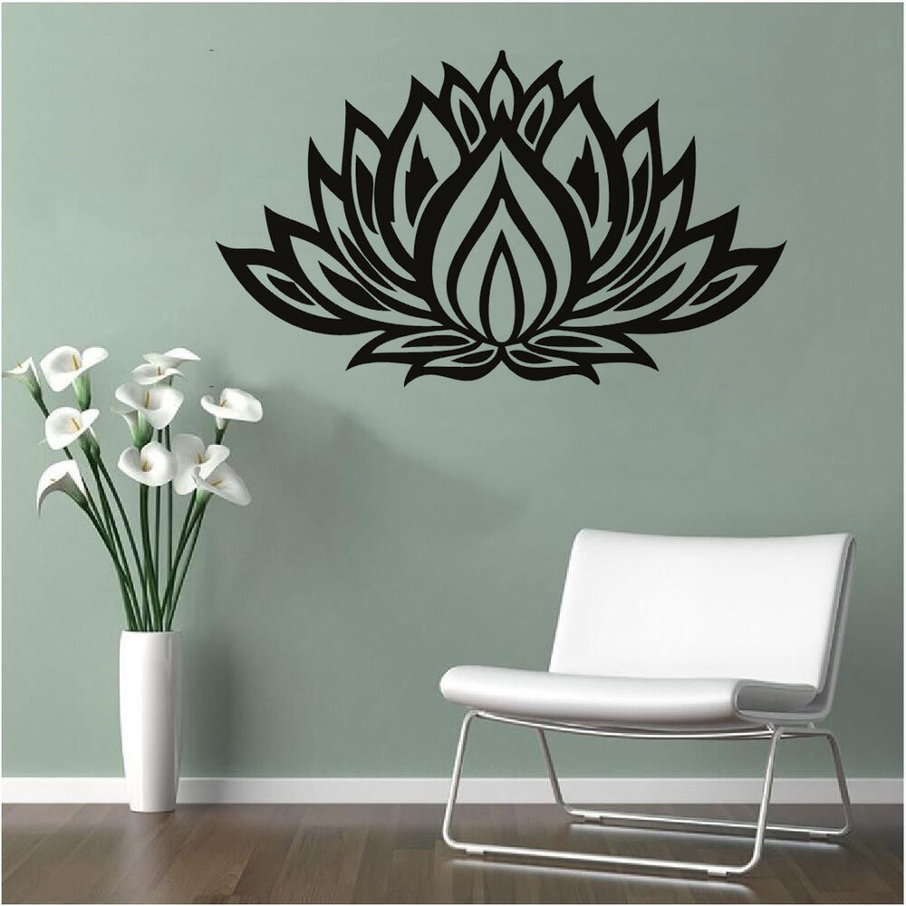 LOTUS Quote Vinyl Wall Sticker Flower Home Room Decor Wall ...