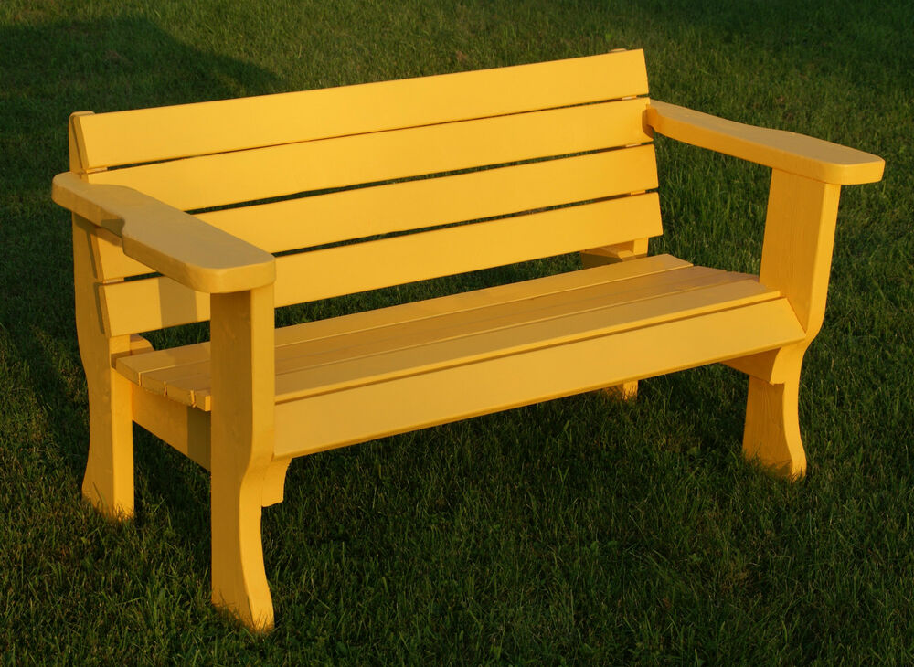 Plans To Build Beautiful Strong Park Style Bench Patio