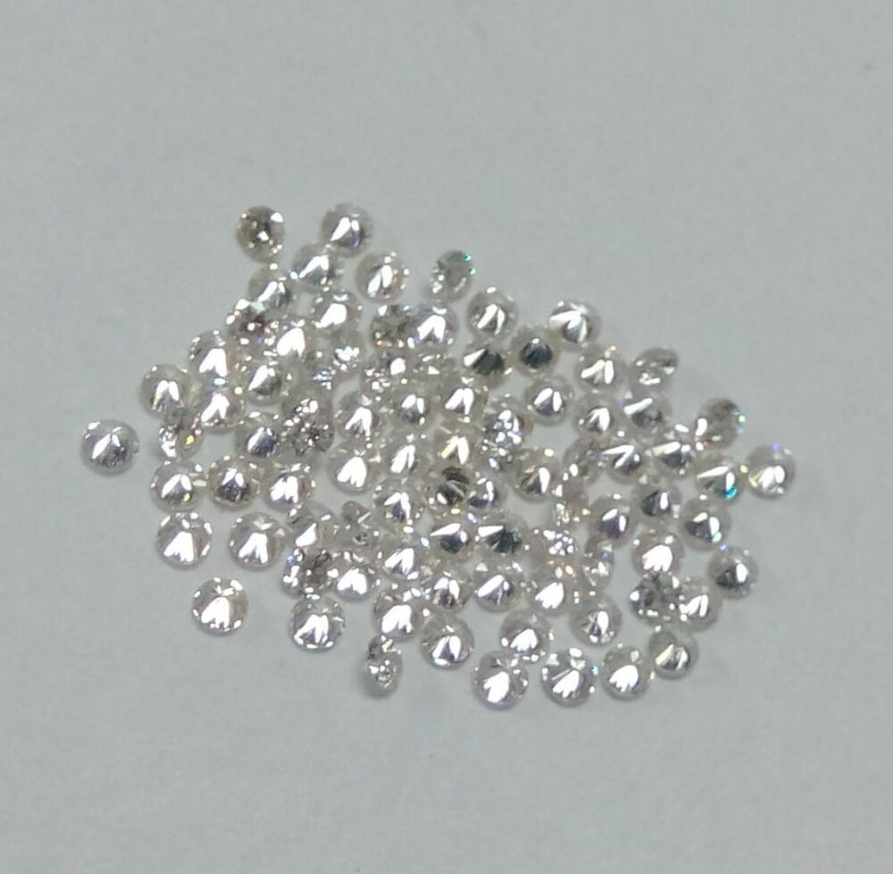 0 90mm To 3mm Natural White Diamond Round Ij Color Si