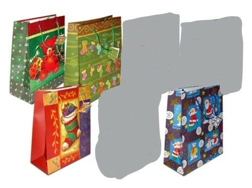 Christmas Gift Bags Bulk Lot 140 -Large Size Wholesale