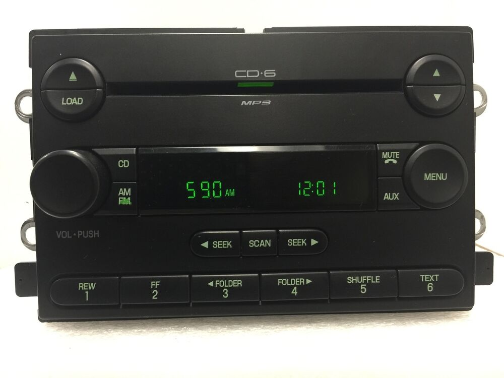 ford f150 f 150 truck radio stereo 6 disc changer mp3 cd player oem 04 05 06 ebay. Black Bedroom Furniture Sets. Home Design Ideas