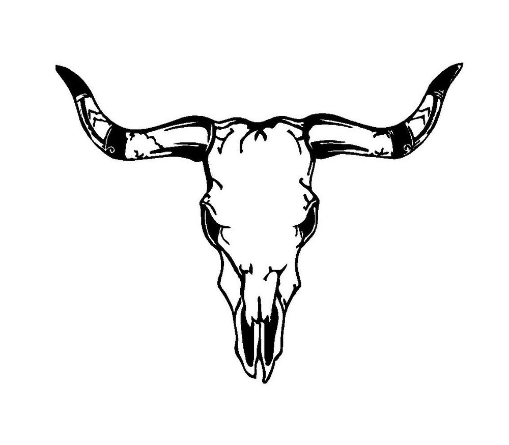 Bull Skull Vinyl Decal Car Truck Window Laptop Sticker Ebay