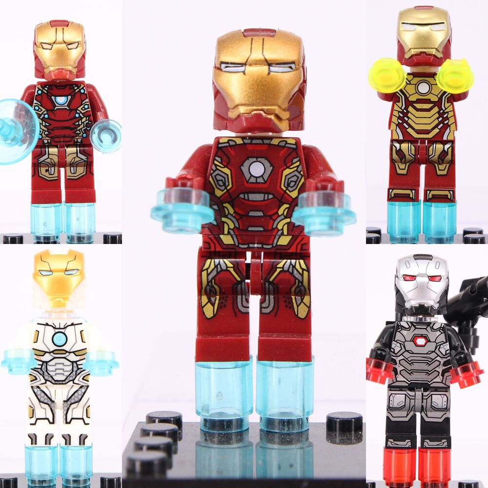 5pcs marvel captain america iron man war machine mini - Mini iron man ...