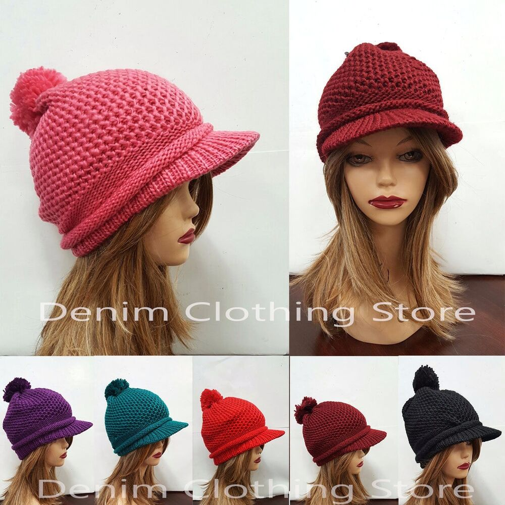 Women Winter Beret Warm Baggy Beanie Knit Crochet Hat ...