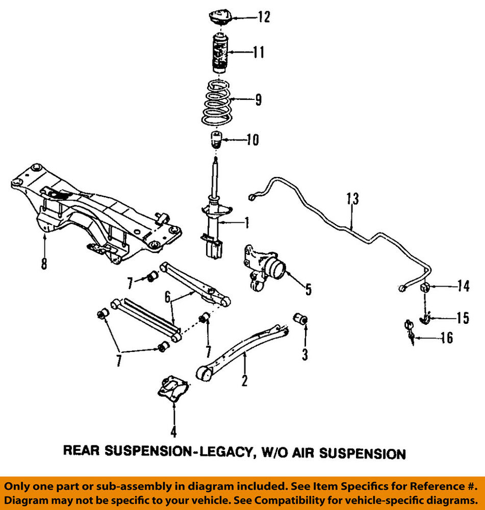 SUBARU    OEM 9802    Forester       Rear       Suspension   Frame Crossmember 20151FA113   eBay