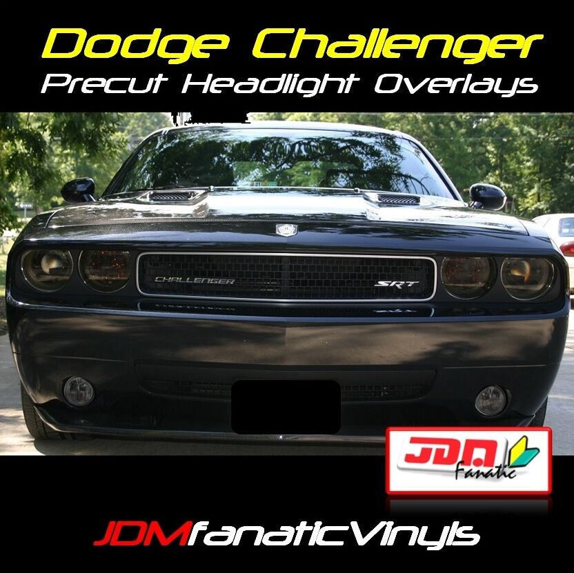 challenger smoked headlight fog light smoke overlays tint. Black Bedroom Furniture Sets. Home Design Ideas