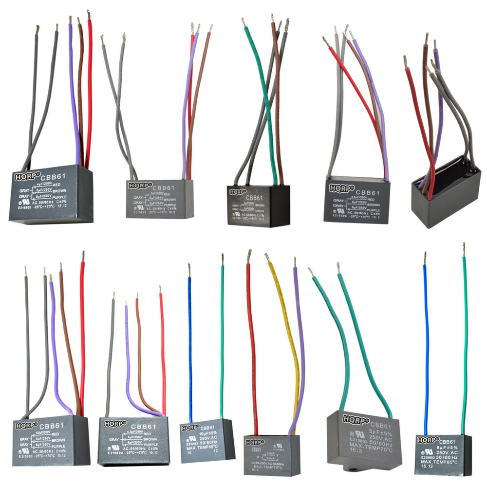 E185116 5 Wire Capacitors Trusted Wiring Diagrams 172817 3 Speed Ceiling Fan Diagram Hampton Bay Cbb61 Capacitor Ac Motor C61 To Switch