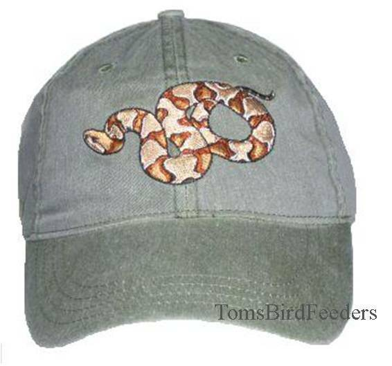 Copperhead Snake Embroidered Cotton Cap NEW Reptile