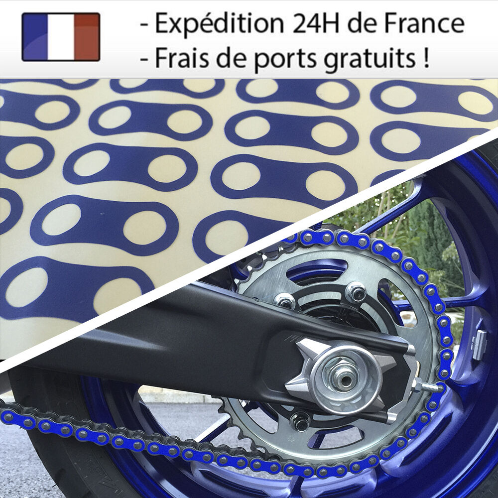 sticker de chaine moto bleu yamaha mt 07 mt 09 mt 10 ebay. Black Bedroom Furniture Sets. Home Design Ideas