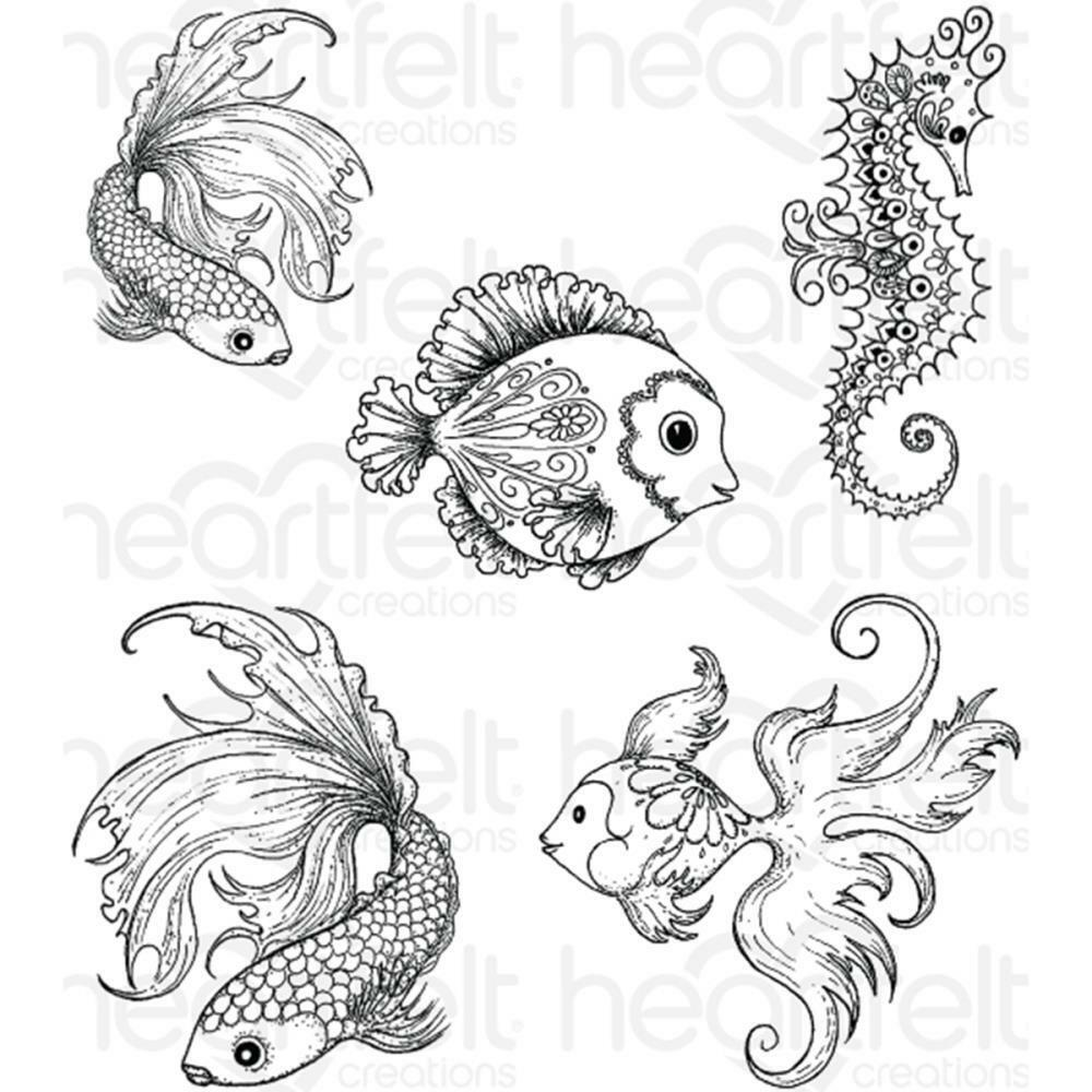 Heartfelt Creations Stamps UNDER THE SEA HCPC3739