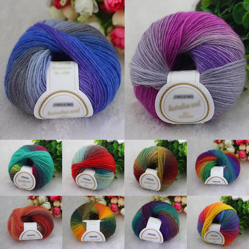10 Colors Soft Acrylic Crochet Cotton 50g Knitting Yarn