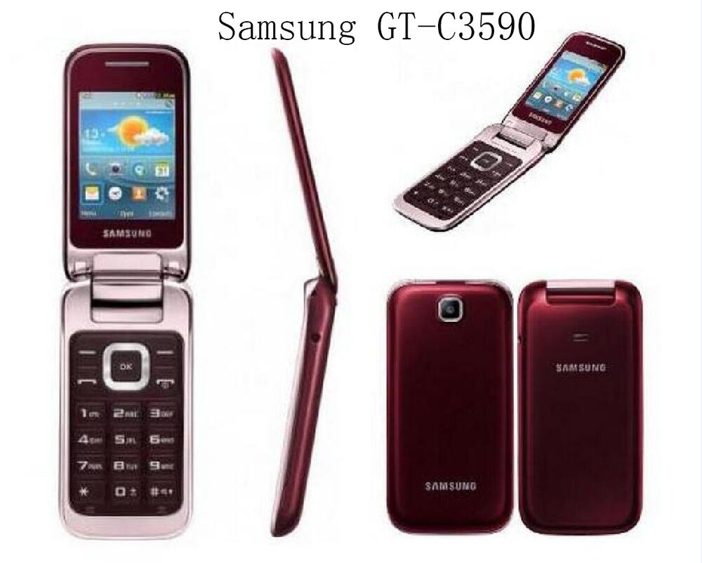 samsung c3590 original unlocked 2 4 2mp big buttons stylish flip mobile phone ebay. Black Bedroom Furniture Sets. Home Design Ideas