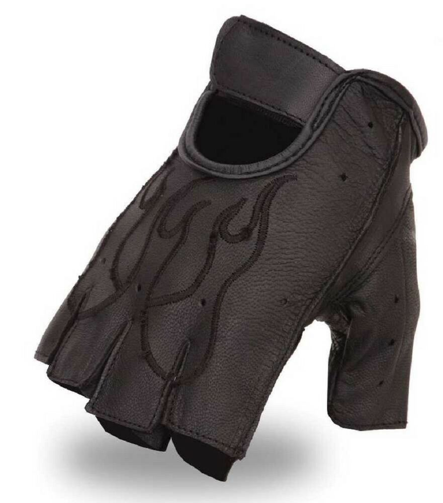 First Manufacturing Mens Fingerless Leather Gloves ...