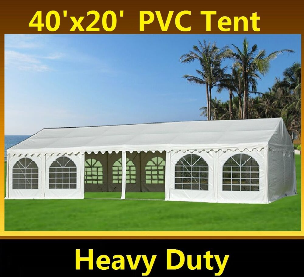 Pvc Party Tent 40 X20 Heavy Duty Wedding Canopy Carport