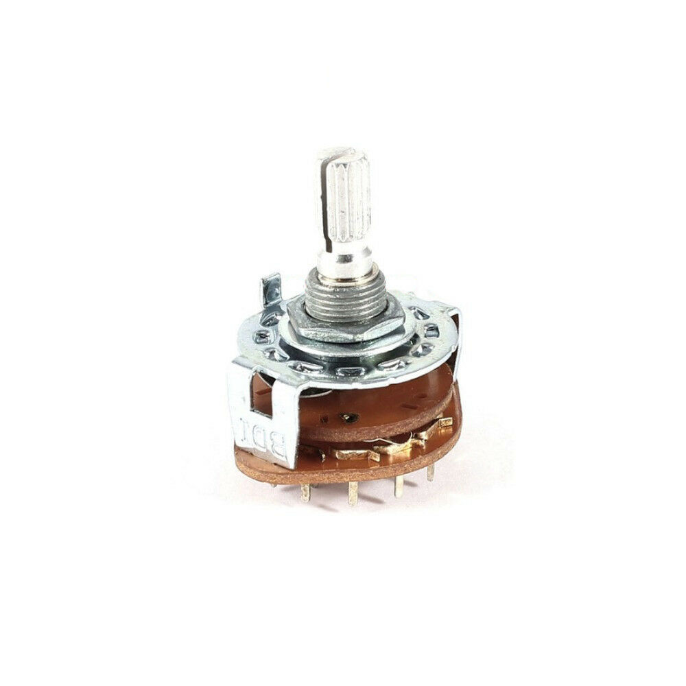 3 Pole 3 Position Band Channel Selector Rotary Switch 3p3t