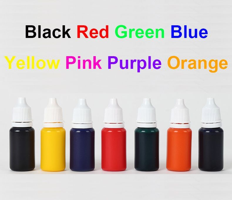 Details About 10ml Refill Ink For Self Inking Flash Rubber Stamp Colors Choice