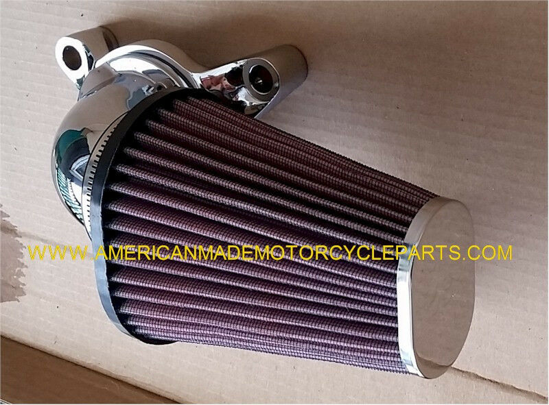 Chrome Red Cone Air Cleaner Filter Kit Carb Fi Harley