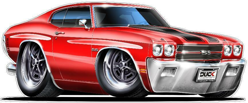 1970 Chevelle Ls 6 454 M 22 Large Cartoon Decal Graphic