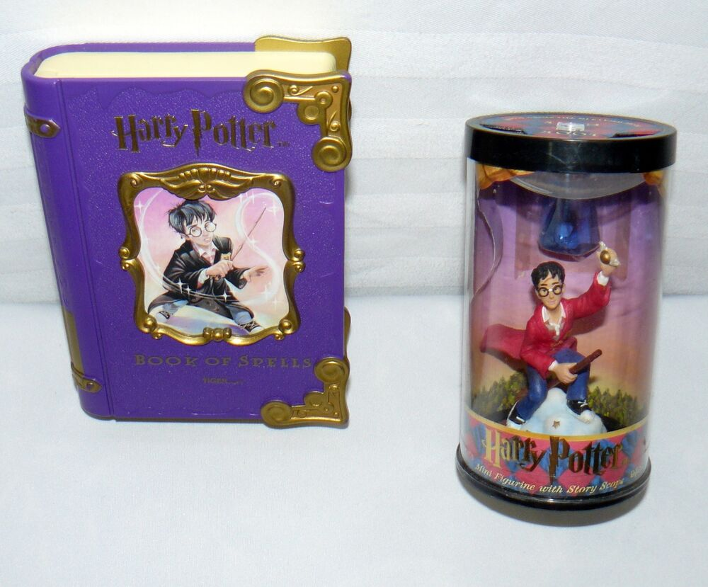 Lot Set Of 2 Harry Potter Toys Book Of Spells Story