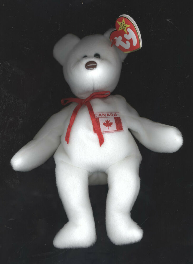 573372a283e Authentic TY MAPLE PRIDE CANADA Beanie Baby Bear MWMT Museum Quality VERY  RARE!